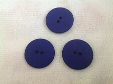 10 NEW 1 1/8 INCH DULL FINISH ROYAL BLUE BUTTONS