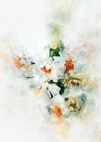Daisies impressionist watercolour painting unique gift (print)
