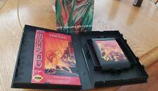 The Lion King (Sega Genesis, 1994) Authentic Cartridge And Box Disney New