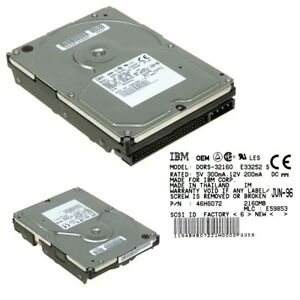 HDD IBM DORS-32160 2GB 5.4K SCSI 50-PIN 46H6072 3.5''