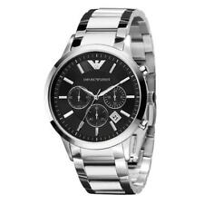 Emporio Armani Classic AR2434 Mens Watch Stainless Steel Chronograph Black Dial