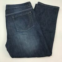 PD&C Denim Jeans Mens 42X30 Blue Straight Leg Regular Fit Cotton Medium Washed