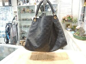 Louis Vuitton Artsy Monogram GM Black Canvas Hobo Shoulder Bag- New & Authentic