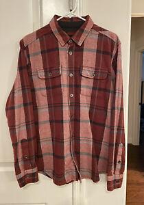 Prana Flannel shirt Mens Size Medium