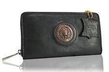 Portefeuille Cuir Noir Portafoglio Nero Leather Wallet Black Geldbörsen Schwarz
