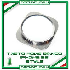 Tasto Home Pulsante Button periPhone 5G Stile 5S/6 Ricambio Bianco Argento White