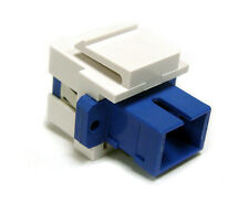 Fiber Optic Keystone Jack Insert, Single Mode, SC Simplex, White – IN2-4406