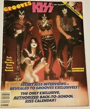 KISS 1978 Grooves Magazine W/Calendar Aucoin Rare Complete NM Simmons Stanley