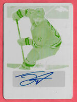 2016-17 Jack Eichel Leaf Metal Yellow Printing Plate Auto 1/1 - Buffalo Sabres