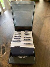 Vintage Rolodex Covered Desk Model Alphabet Dividers Plastic Card Covers