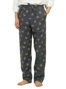 Polo Ralph Lauren Bear Flannel PJ Pajama Pants Red, Grey -- 2 colors