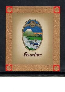1936 ECUADOR OLYMPIC GAMES COAT OF ARMS CIGARETTE CARD, 1936 BERLIN GAMES