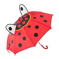 3D Kinder Regenschirm, Motiv Marienkäfer