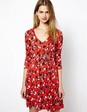 Viscose 3/4 Sleeve Casual Tea Dresses