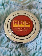 Vintage Rare Hks Racing Horn Button Sparkle Red Amp Gold Jdm Greddy