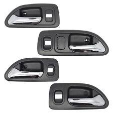 Inside Door Handle Set - Front + Rear + Left + Right Interior Gray