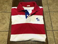 Abercrombie & Fitch s/s polo shirt size M red, white