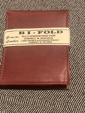 New Mens Bifold Leather Wallet Secure Multi Pockets Brown