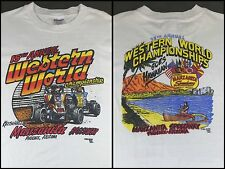 True Vintage 1982 Sprint Car Racing Western World Championship Hawaii T-Shirt XL
