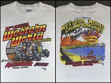 Vintage Mens XL 1982 Sprint Car Racing Western World Championship Hawaii T-Shirt