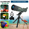 30-90X90 Angled Spotting Scope HD Monocular Telescope+ Cell Phone Adaptor Zoom