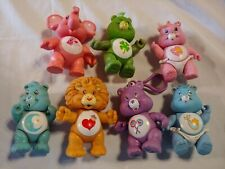 Vintage Lot Of 1980's Kenner Care Bear Figurines, Lion And Elephant Figurines