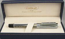 Conklin Stylograph Polar White & Chrome Fountain Pen - Stub Nib - New