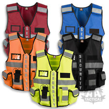 TACTIC SECURITY DUTY PATROL VEST HI VIZ SIA INDUSTRY DOG HANDLER TAC POLICE CCTV