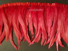 100 Piezas Rojo irridescent coque plumas