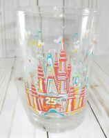 Vtg Disney World 25th Anniversary Glass Tumbler KINGDOM 16 oz Remember The Magic