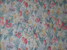 "SANDERSON CURTAIN FABRIC ""Salad Days"" 3.70 METRES PORCELAIN/PINK (370 CM)"