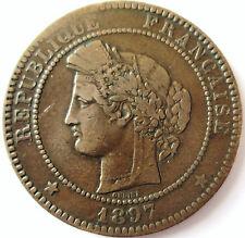 CERES ..10 CENTIMES 1897 .A.TORCHE.BRONZE POIDS D'ORIGINE 10 GR .30 MM.OUDINE