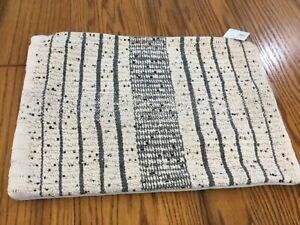 "Pottery Barn Dimson Textured Lumbar Pillow Cover 14"" x 20"" Cozy Neutral Modern"