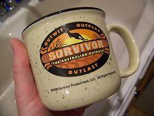 Vintage 2000 CBS Survivor Australia The Australian Outback TV Show Glass Mug Cup