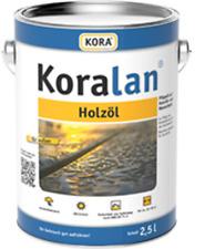 (15,80€/L) Kora Koralan Holzöl Holz ÖL UV Natur  2,5L