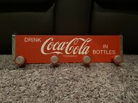 "18.5"" Coca Cola Coke Sign Vintage Coat Hanging Rack"