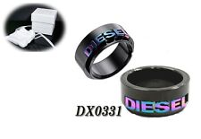 DIESEL MEN'S RAINBOW LOGO STEEL HERREN RING DX0331 Sz.11.5
