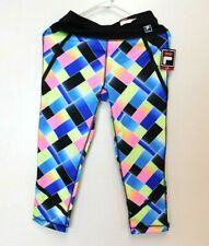 6bd40b24a348 NWT Fila Womens Athletic Capri Tights Size M Colorful Abstract Design