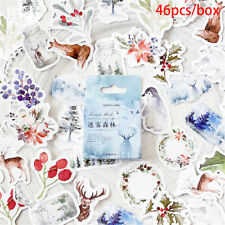 46Pcs/Lot Colorful Forest Scrapbook album hand account Stickers Home Decorati QA