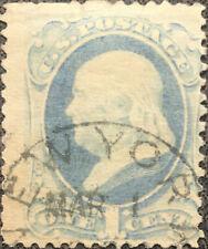 Scott #182 US 1879 1 Cent Franklin Bank Note Stamp