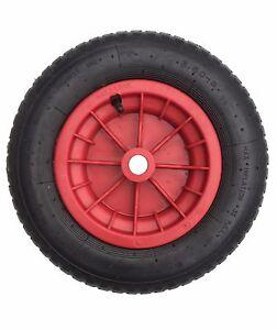 "14"" Pneumatic  Wheelbarrow Wheel Inflatable Tyre BENT VALVE Inner Tube 3.50 - 8"