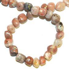 """NG2644f Pink Lepidolite Medium 8mm - 10mm Pebble Natural Gemstone Beads 16"""""""