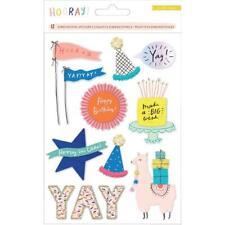 Crate Paper Hooray Dimensional Stickers 12/Pkg - 345586 Birthday