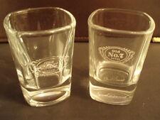 Lot of Two Square Jack Daniels No,7 LOGO shot glasses. Nice!!!