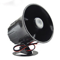 New Outdoor DC 12V Wired Loud Alarm Siren Horn With Bracket For Home Security