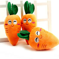 Cute Puppy Pet Supplies Carrot Plush Chew Squeaker Sound Squeaky Dog Toys