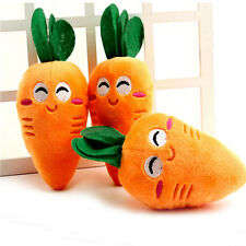 1Pc Kawaii Cartoon Carrot Puppy Pet Chew Cute Plush Vegetable Squeaky Toy Gift