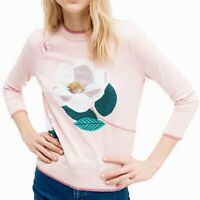 Kate Spade | NWT Womens Size M Broome Street Flower Sweater Cameopink MSRP $298