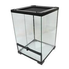 Reptile Mini Tall Glass Terrarium Vivarium - 30x30x45cm - Dual Opening Doors