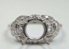 Antique Art Deco Vintage Ring Setting Platinum Hold 6-7.5MM Ring Size 5.75 UK-L